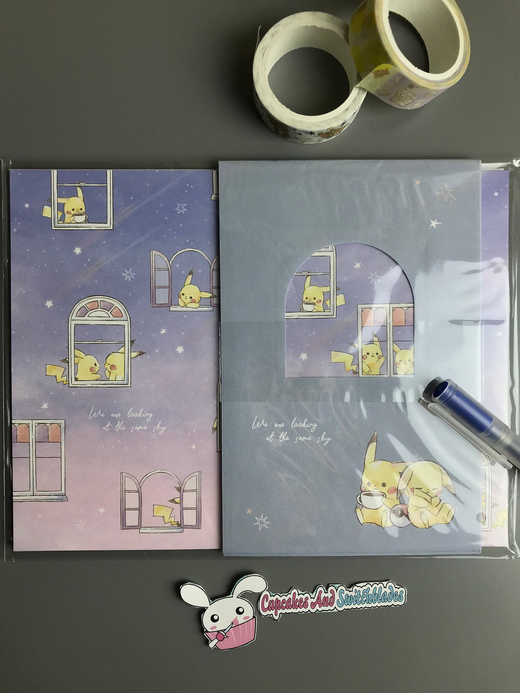 Pikachu Nighttime Window Letter Set
