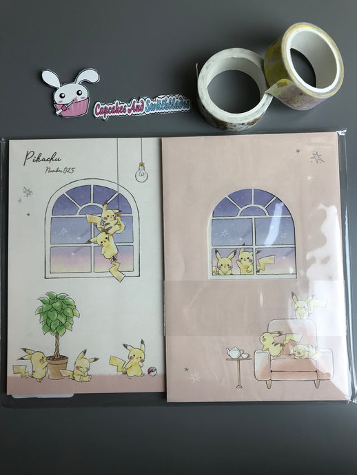 Pikachu Evening Window Letter Set