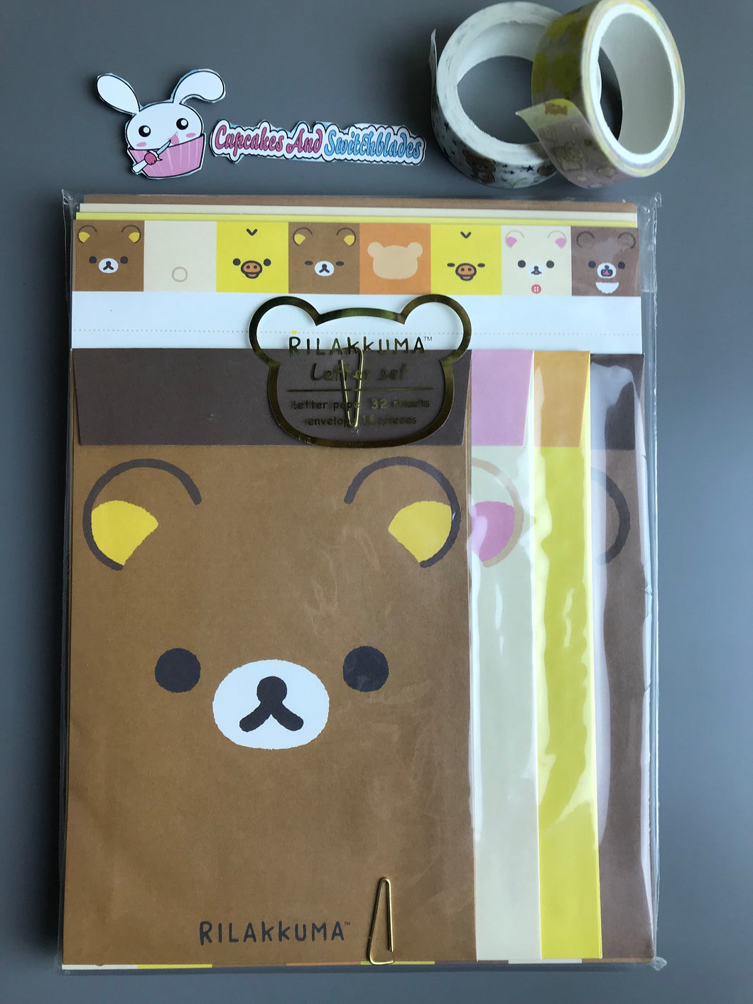 Rilakkuma Faces Letter Set