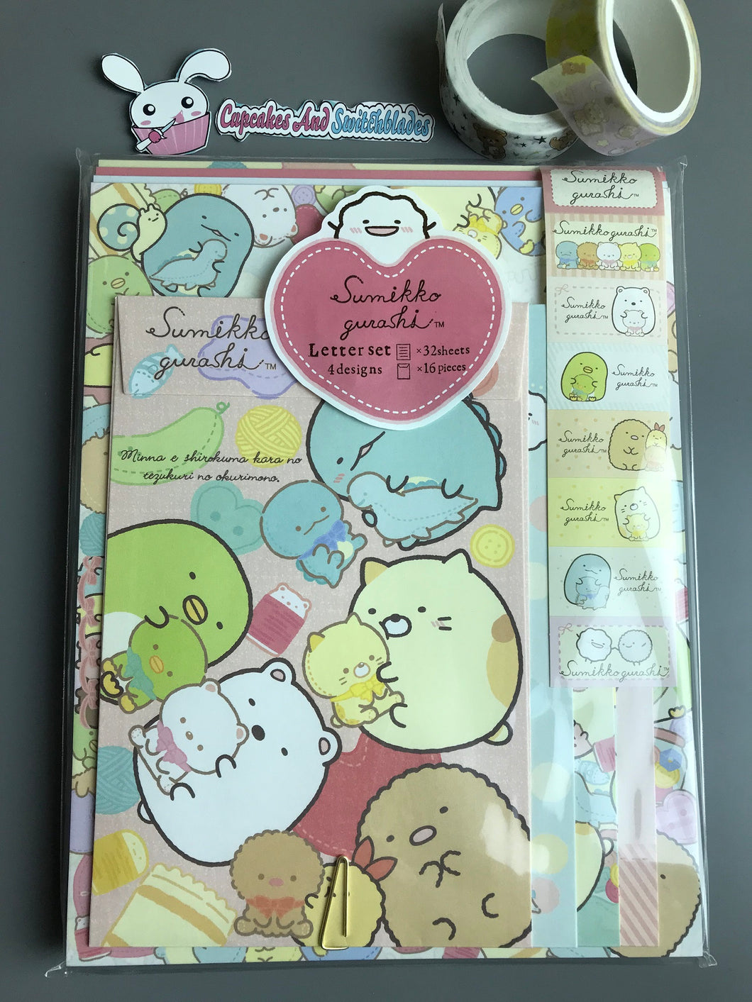 Sumikkogurashi Littlie Buddies Letter Set