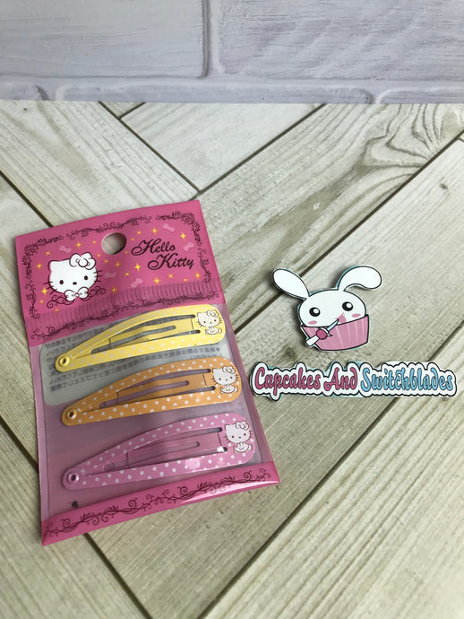 Hello Kitty Metal Barrette Set
