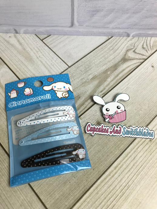 Cinnamoroll Metal Barrette Set