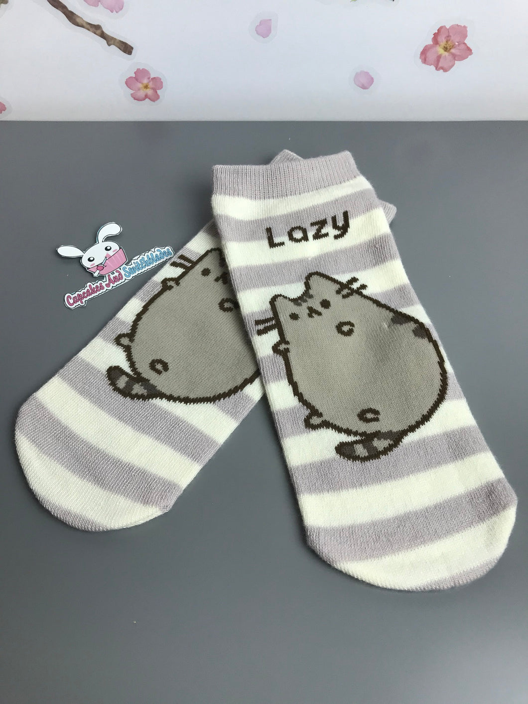 Lazy Pusheen Ankle Socks