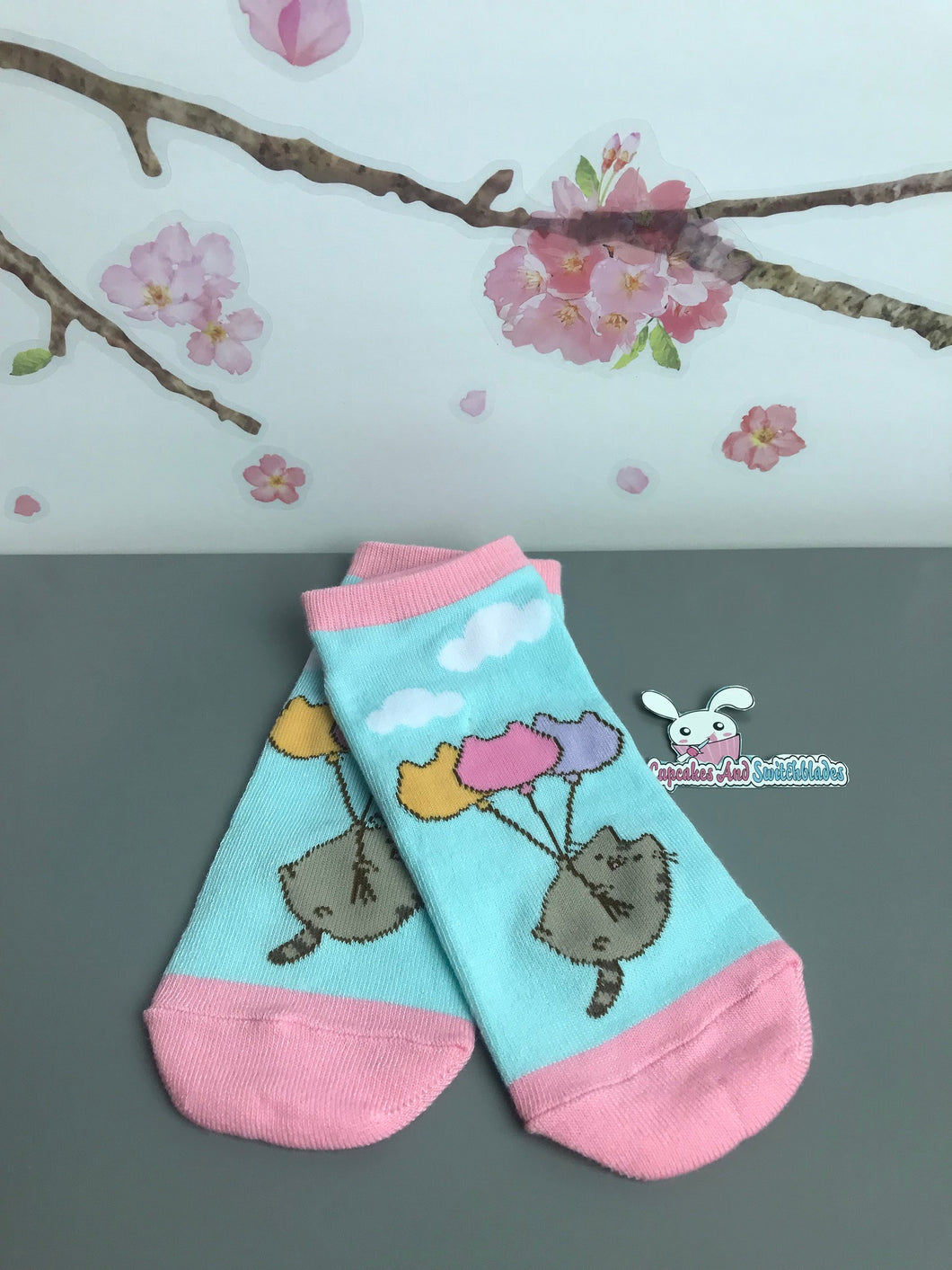 Pusheen Balloon Ankle Socks 1
