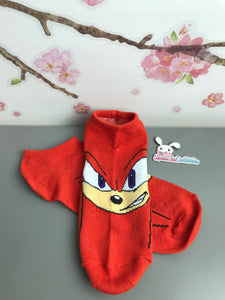 Knuckles No Show Socks - Sonic the Hedgehog - Face