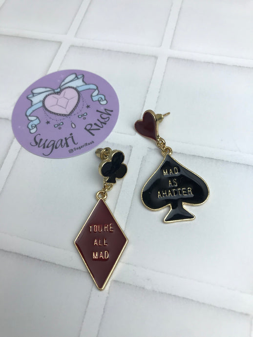 Alice in Wonderland Earrings - Mad Hatter
