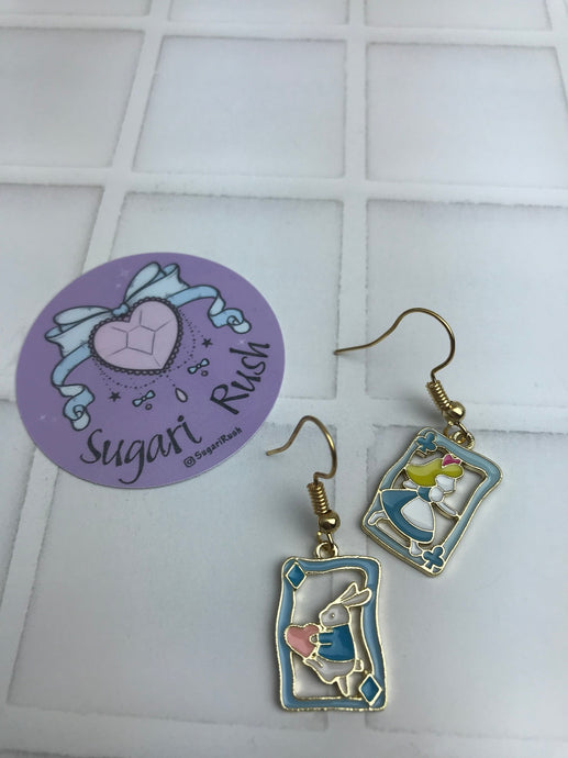 Alice in Wonderland Earrings - Cards