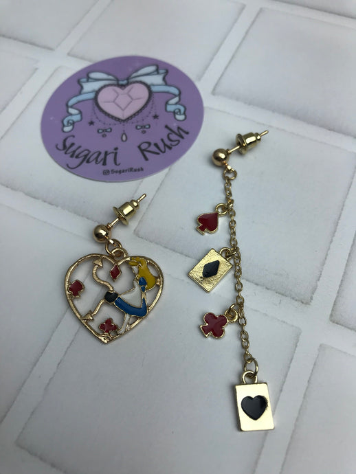 Alice in Wonderland Earrings - Alice Clock