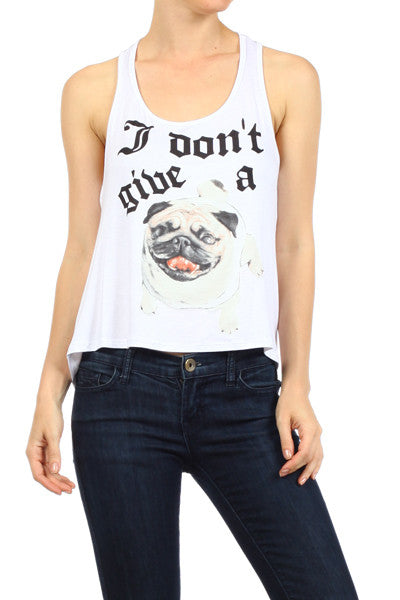 I Don't Give A Pug! Tank Top