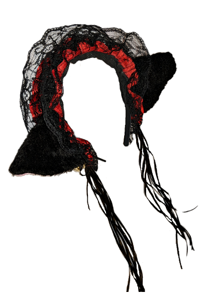 Deluxe Maid Black and Red Headband