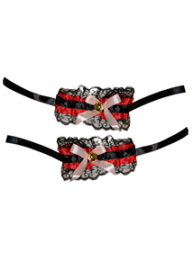 Maid Wristbands Black and Red