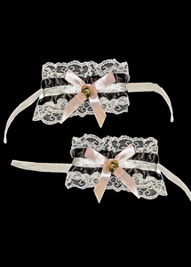 Maid Wristbands Black and White