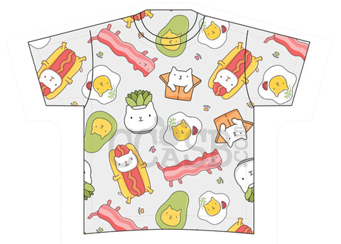 Breakfast Kitty Harajuku Tee