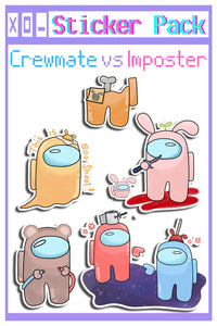 Crew vs Imposter Sticker Set