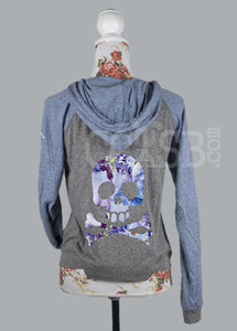 Floral Skull and Crossbone Sweater