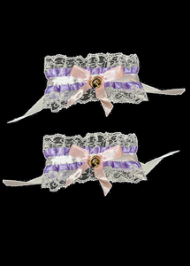 Maid Wristbands White and Lavender