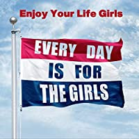 Panzerog Every Day is for The Girls Flag