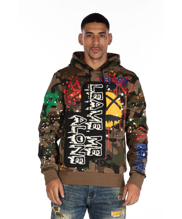 GRAFFITI HOODY - Smoke Rise Denim