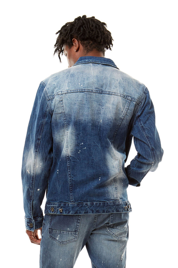 FADED DENIM JACKET - Smoke Rise Denim