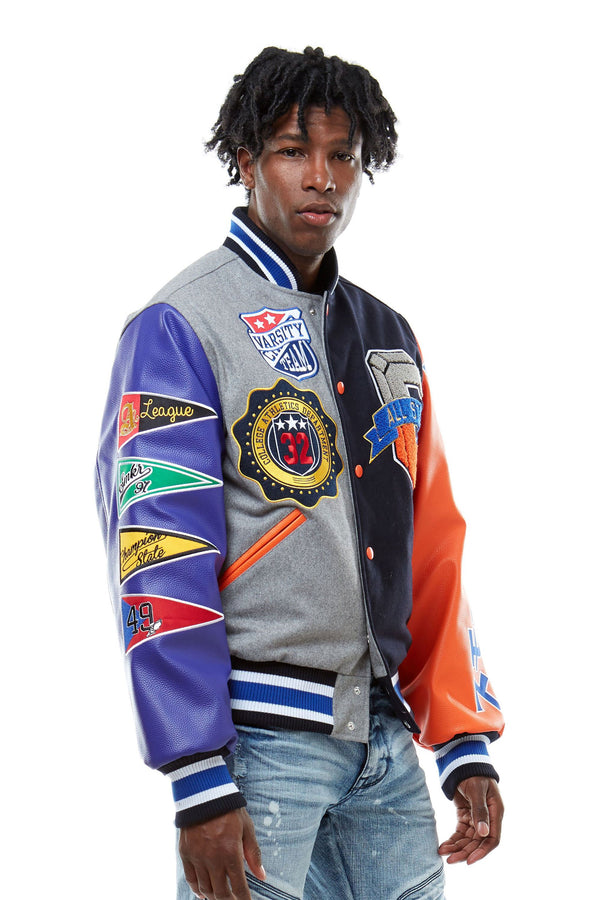 ALL STAR VARSITY JACKET - Smoke Rise Denim