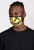 SMILEY FACE MASK - Smoke Rise Denim