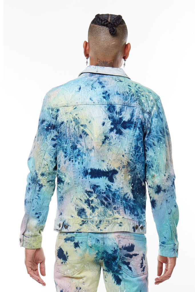 TIE DYE JACKET - Smoke Rise Denim
