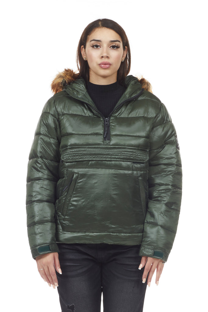 MAD BLUE ANORAK PUFFER JACKET - FOREST GREEN - Smoke Rise Denim
