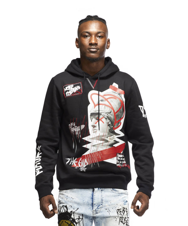 GRAPHIC HOODY - Smoke Rise Denim