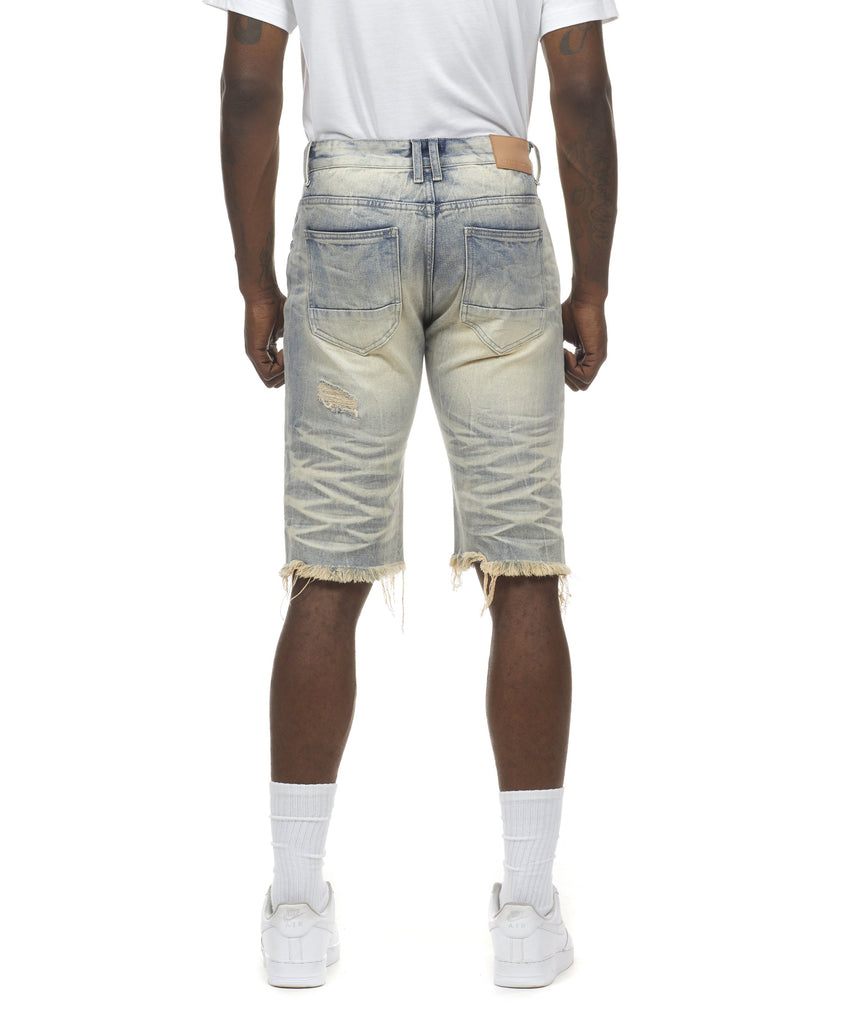 Basic Denim Shorts - Smoke Rise Varsity Jacket