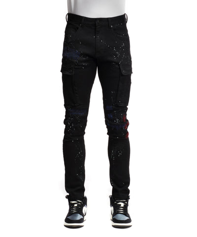 Rip & Repair Cargo Pants - Smoke Rise Varsity Jacket