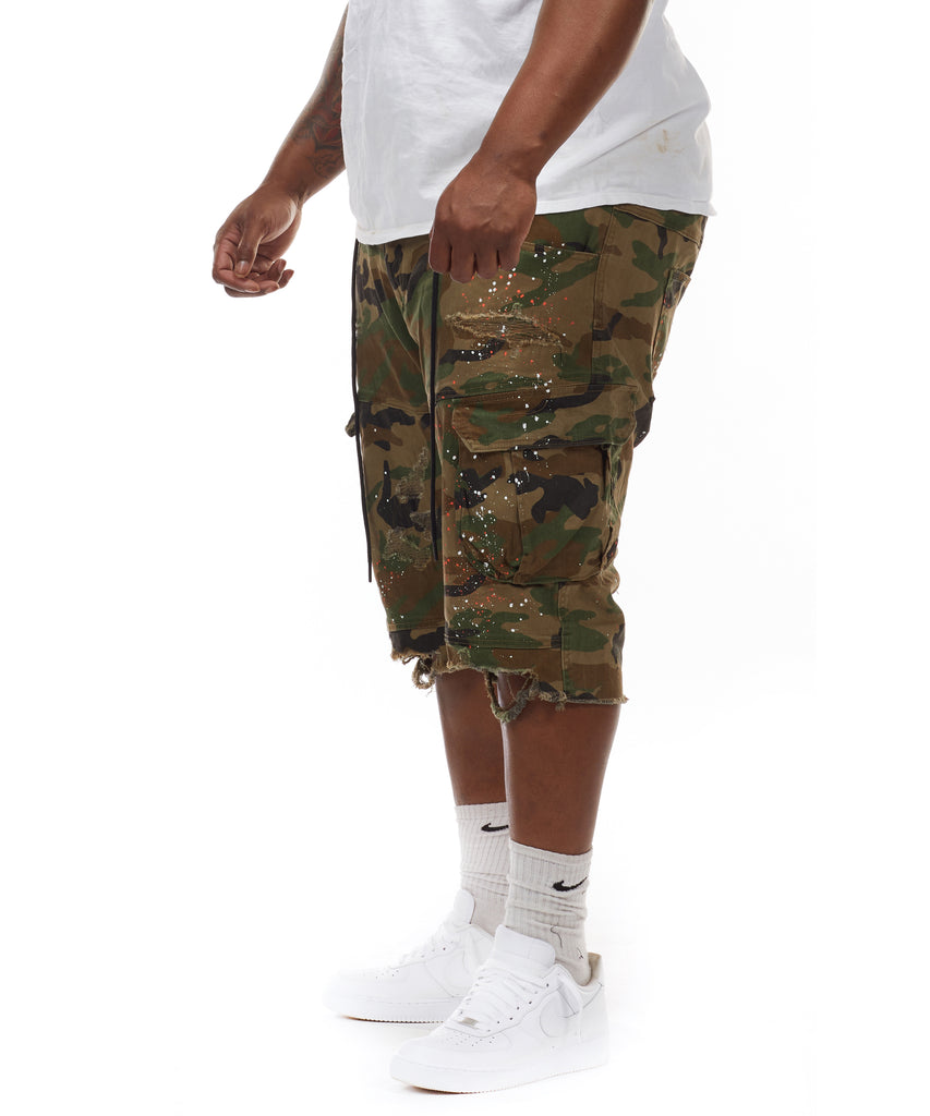 Rip & Repair Cargo Shorts - Smoke Rise Varsity Jacket