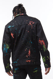 FASHION DENIM JACKET WITH PAINT - Smoke Rise Denim