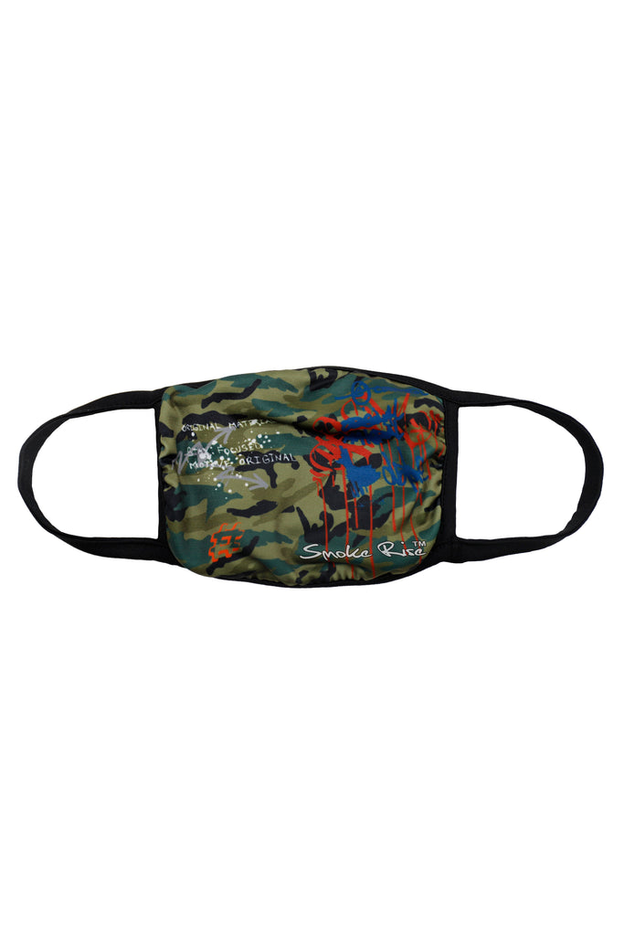 CAMO FASHION MASK - Smoke Rise Denim