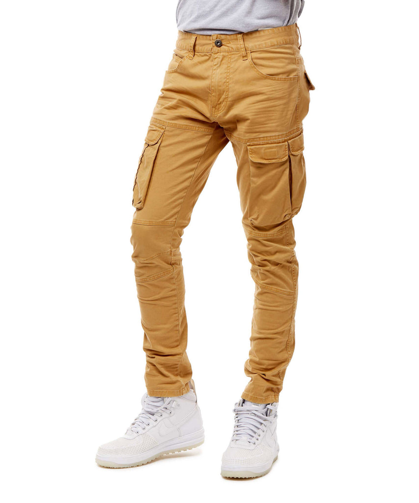 TWILL CARGO PANTS - WHEAT - Smoke Rise Denim