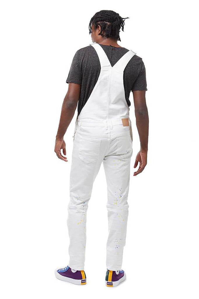 OVERALLS WITH PAINT - Smoke Rise Denim