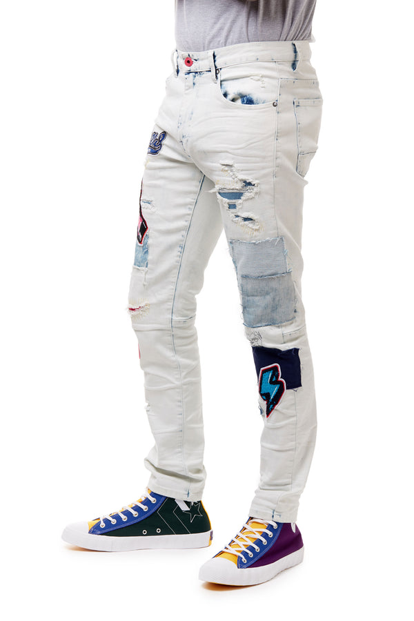 FASHION VARSITY JEANS - Smoke Rise Denim