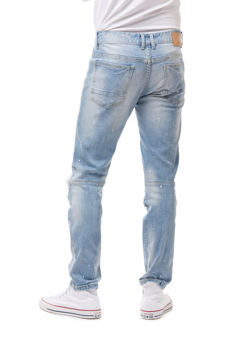 FASHION RIP AND REPAIR JEANS - Smoke Rise Denim