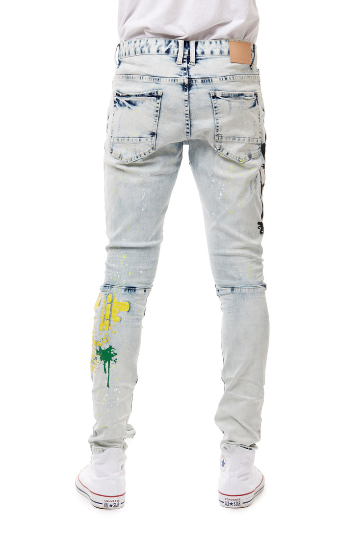 FASHION DENIM GRAFFITI JEANS - Smoke Rise Denim