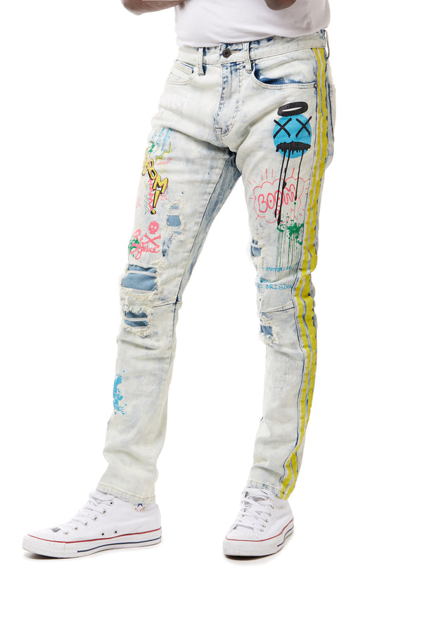 GRAFFITI JEANS - Smoke Rise Denim