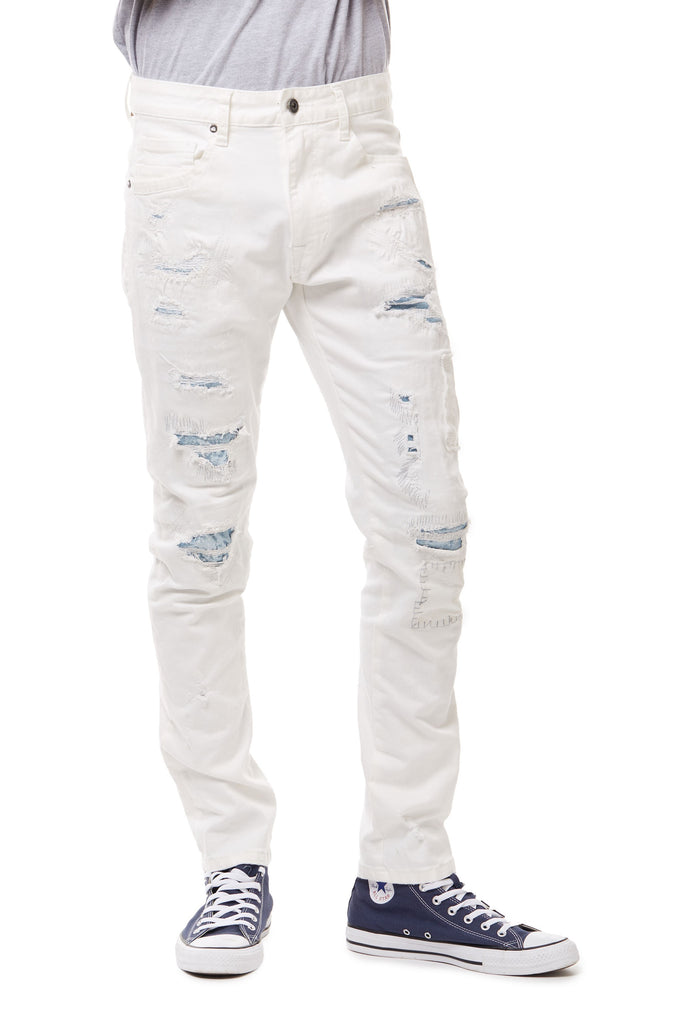 FASHION RIP & REPAIR JEANS - Smoke Rise Denim