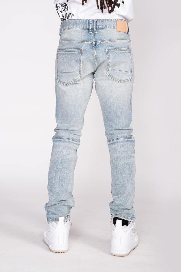 HEAVY RIP AND REPAIR JEANS - Smoke Rise Denim