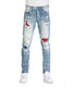 RHINESTONE BACKING JEANS - Smoke Rise Varsity Jacket