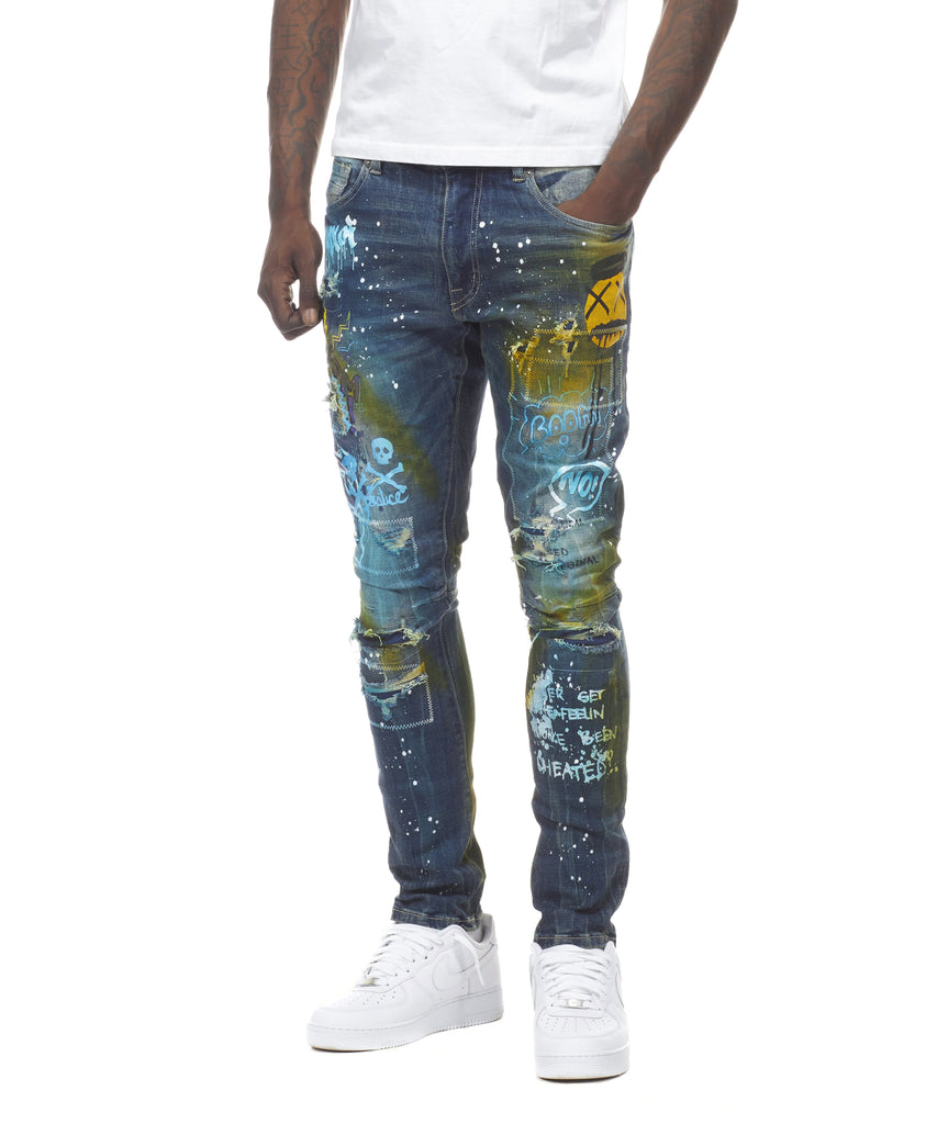 GRAFFITI JEANS - Smoke Rise Varsity Jacket