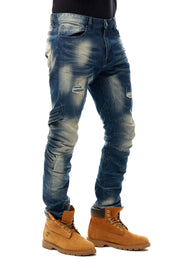 FASHION EMBOSSED JEANS - Smoke Rise Denim