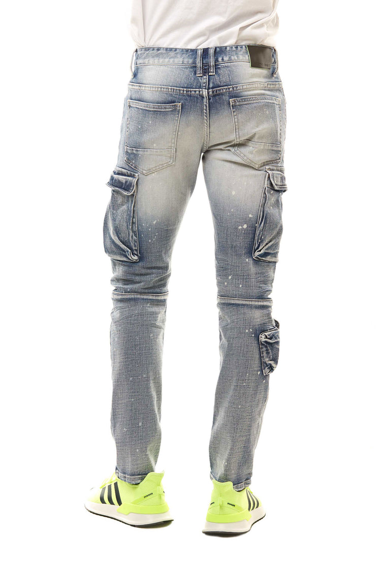 FASHION UTILITY JEANS - Smoke Rise Denim