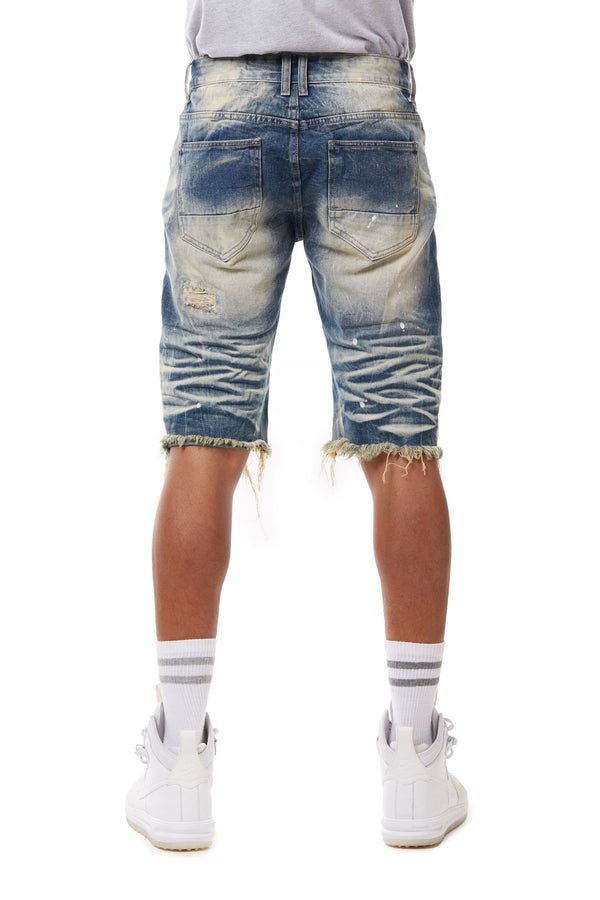 BASIC DENIM SHORTS - Smoke Rise Denim