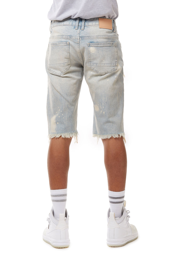 FASHION RIP AND REPAIR DENIM SHORTS - BIG AND TALL - Smoke Rise Denim