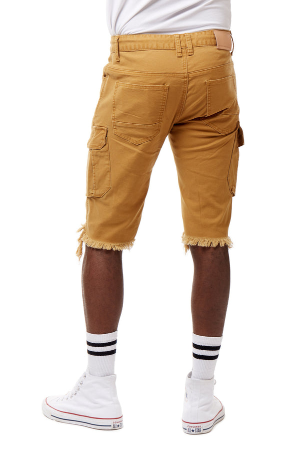 FASHION TWILL CARGO SHORTS WITH PAINT