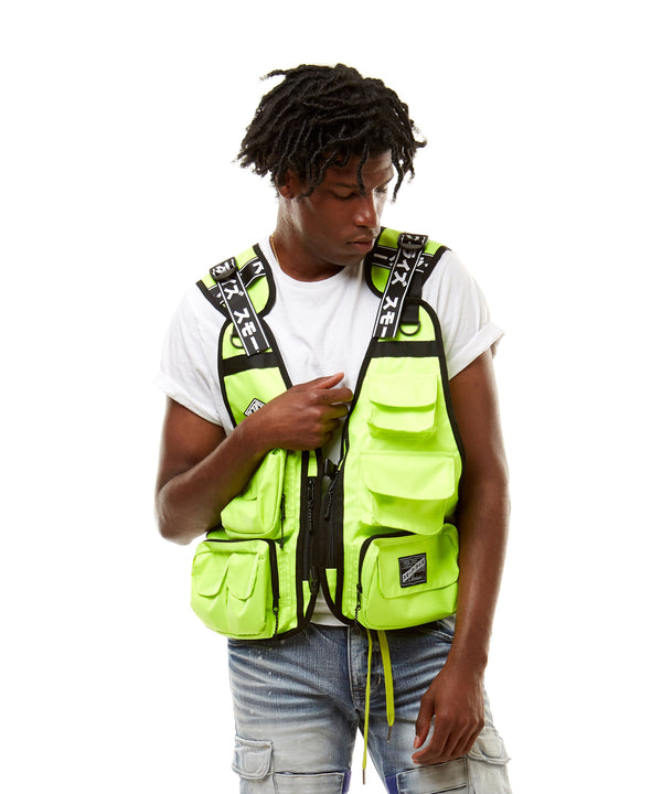 URBAN UTILITY VEST - Smoke Rise Denim