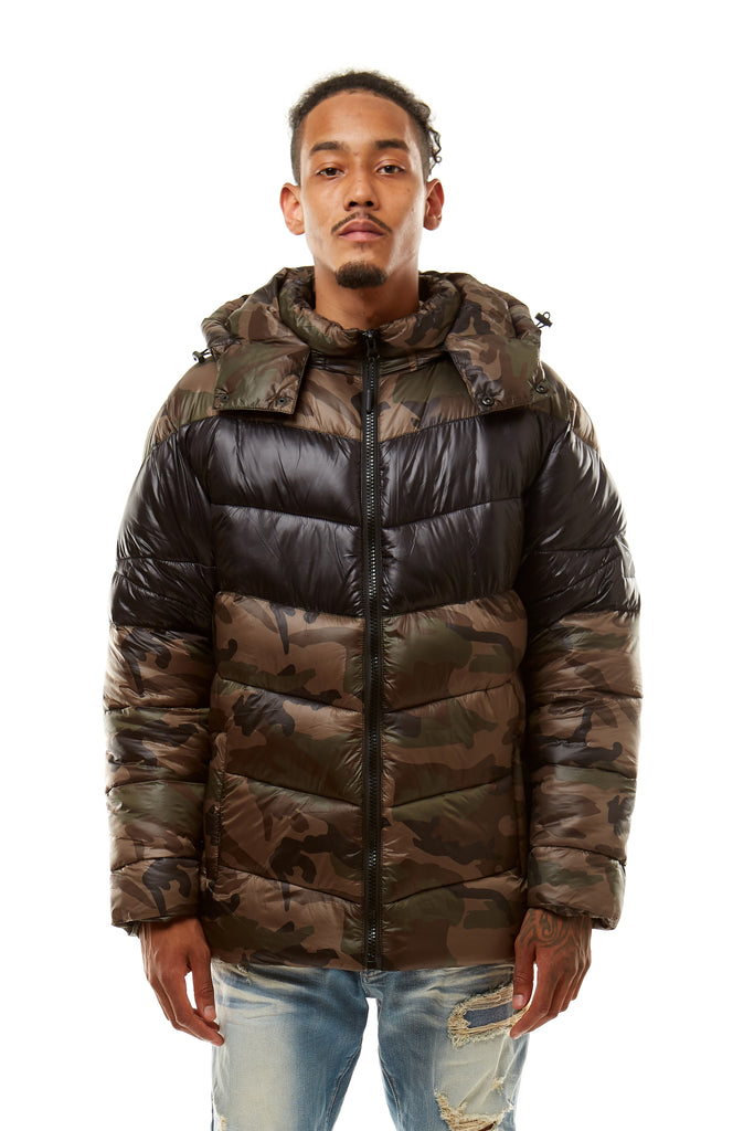 MAD BLUE PUFFER JACKET - DARK WOODCAMO - Smoke Rise Denim